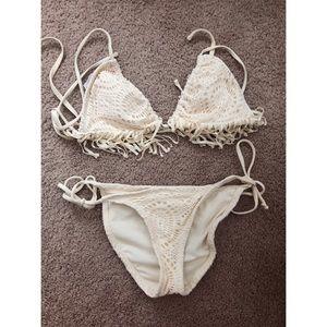 Other - Boho Chic Cream Bikini